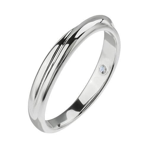 Binich(ビニッチ) 誕生石 インフィニティ リング 指輪[ 6月 ] ムーンストーン(11号)
