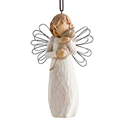 Ornament arrives in a gift box Cord style hanger Resin and metal ornament Ornament measures 4.5 Inch high Sentiment: I love our friendship