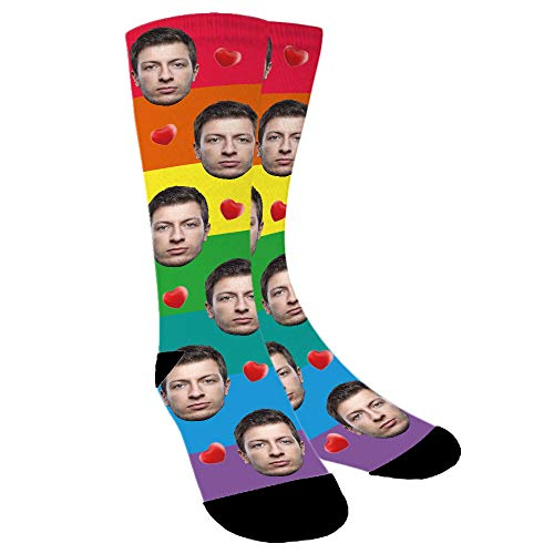 Personalised Face Rainbow Socks (Aolun)