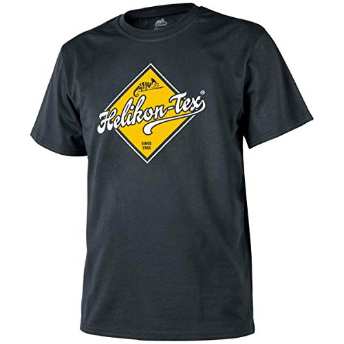 Helikon-Tex Uomo Road Sign T-Shirt Nero Taglia S