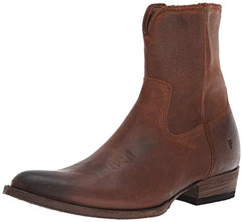 FRYE Men's Austin Inside Zip Western Boot, brown, 9.5 M M US