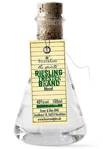 Preisvergleich Produktbild Feuer & Glas Riesling Trester Brand 40% vol. 100ml im Erlenmeyerkolben