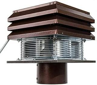 Gemi - Aspirador, extractor de humo, extractor de humos para chimenea, modelo Base, modelo redondo de 20 cm