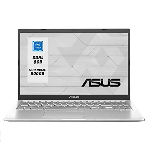 Asus VivoBook Notebook, Display 15.6 ' HD LED, Amd Dual Core 64 bit fino a 2.60Ghz 4GB RAM ddr4, Ssd 256GB,pc portatile Windows 10 Professional