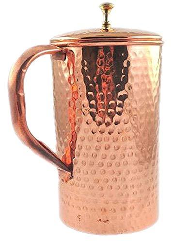 Corps Crafts en cuivre pur martelé Pichet à eau