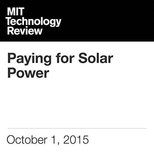 Paying for Solar Power audiobook cover art