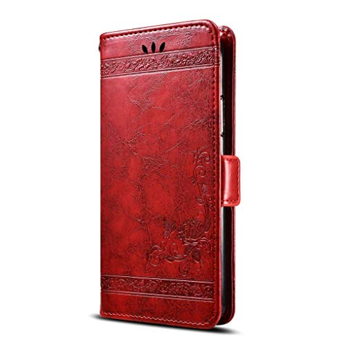 Phone Case for HomTom S9 Plus,Premium Leather Flip Wallet Case with Card Slot,Stand Holder and Magnetic Closure,HomTom S9 Plus Leather Case Cover