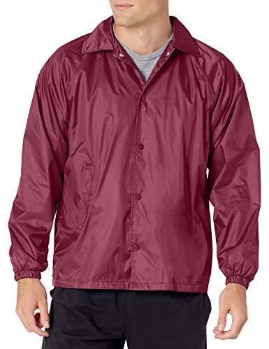 Augusta Sportswear Men's Nylon Coach's Jacket/Lined, Maroon, Small