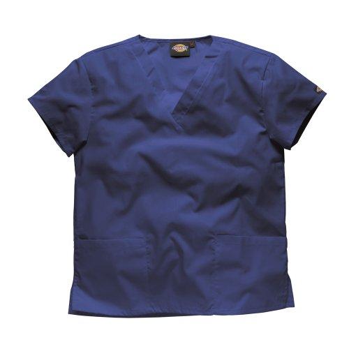 Dickies Workwear Schlupfhemd Medizin 2 Taschen mit V-Ausschnitt L Marine