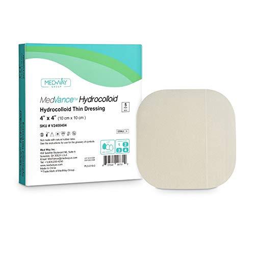 MedVanceTM Hydrokolloid - Dünner Verband mit Hydrokolloidkleber 10 cm x 10 cm Schachtel mit 5 Verbänden