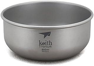 Keith300ml茶碗ボウルキャンプボウルチタン碗43.5g
