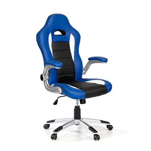 OFICHAIRS Silla Gaming Lotus Silla Gamer Silla Escritorio diseño Racing Brazos abatibles Color Azul