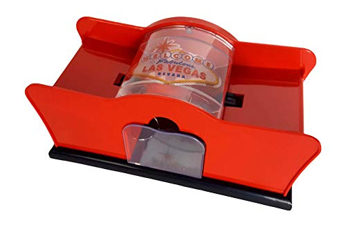 CHH Card Shuffler 2 Deck Hand Crank, 'Welcome To Las Vegas'