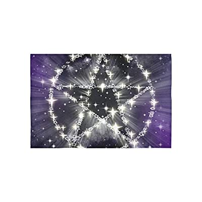 WBSNDB Tapestry Stars Pentagram Magic Witchcraft Halloween Tapestries Wall Hanging Flower Psychedelic Tapestry Wall Hanging Indian Dorm Decor for Living Room Bedroom 60 X 40 Inch