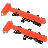DOCOSS -Pack of 2- Hard Carbon Steel Emergency Seat Belt Cutter and Window Hammer Emergency Escape...