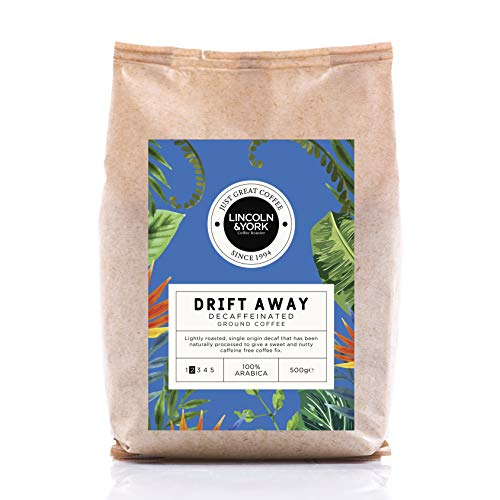 Lincoln & York Drift Away, Single Origin Columbia, Decaffeinated Ground Coffee, 100% Arabica, 500g