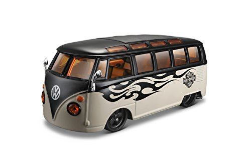 "Maisto M32192 Escala 1:24 \""Volkswagen Samba Van con un diseño Harley Davidson Modelo detallado"