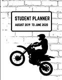 Student Planner August  2019- June 2020: Motorcross Academic Agenda  Daily Weekly Planner with Assignment Test and Exam Checklist and Reminder To-Do List