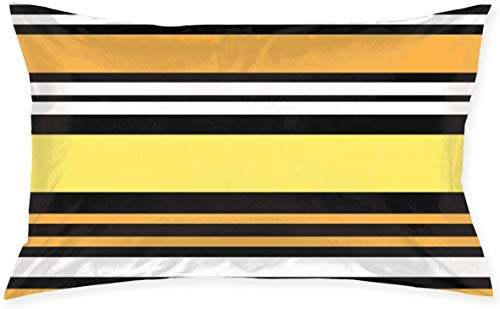 Just life Patrón de Rayas de Colores Funda de cojín de Tiro Funda de Almohada Serie Living Funda de Almohada Decorativa Diseño de Doble Cara 29.9'X 19.6'