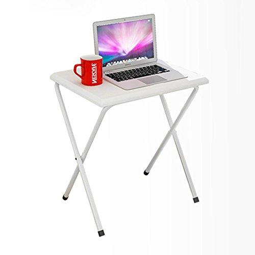 GYH zhuozi LJHA Table Pliante/Petit Bureau d'ordinateur/Bureau Pliant de Livre/Table Extensible portative extérieure/Table multifonctionnelle Table (Couleur : Blanc)