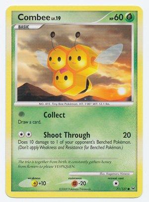 Pokemon - Combee (71) - Platinum - Reverse Holo