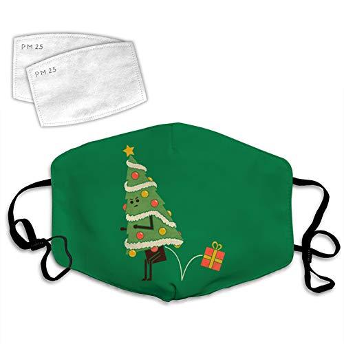 835 Christmas Cutie Copertura Viso Decorazione Unisex Lavabile Riutilizzabile Traspirante 2PCS Filtri Albero di Natale Taglia unica