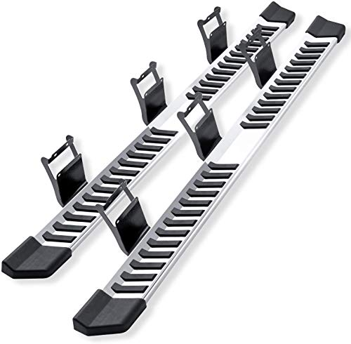 Pair Running Board Nerf Bar for 15-21 Ford F150 Crew Cab(4 Full Size Doors) Side Steps,Width 6 Inches V Style (15-20 Ford F150 Superduty Crew Cab)