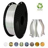 KEHUASHINA Seda Blanco 3d impresora PLA filamento de 1,75 mm 1 kg bobina 2,2 libras 3d impresión Pla material