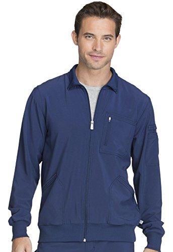 CHEROKEE Infinity Men 'Men's Zip Front Jacket, CK305A, L, Navy