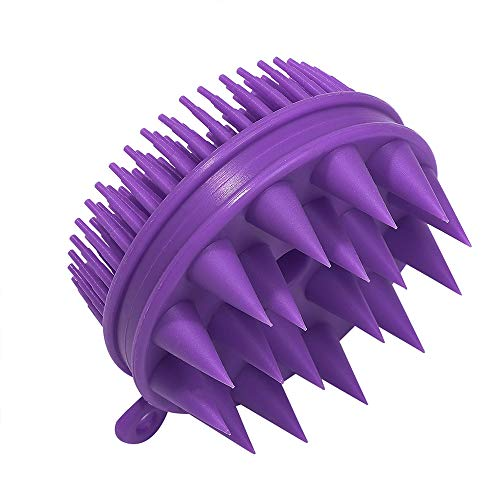 Fuovt Shampoo Massager Brush Scalp - Hair Scalp Massager, Scalp Exfoliator Brush for Curly Hair and All Types of Hair (Purple)
