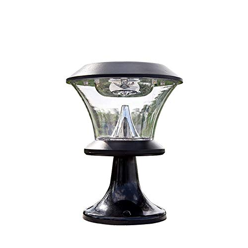 COCNI American Outdoor Solarenergie Zaun Licht Türpfosten Lampt LED IP55 wasserdicht Aluminiumdruckguss Acryl Säule Licht Home Villa Hof Backstein Säule Laterne (Color : Warmes Licht)
