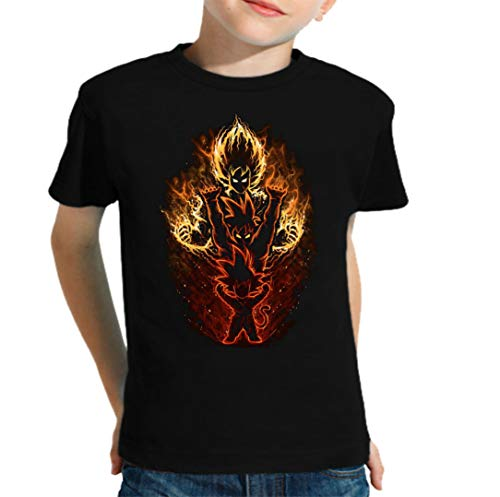 The Fan Tee Camiseta de NIÑOS Dragon Ball Goku Vegeta Bolas de Dragon Super Saiyan 007 3-4 años