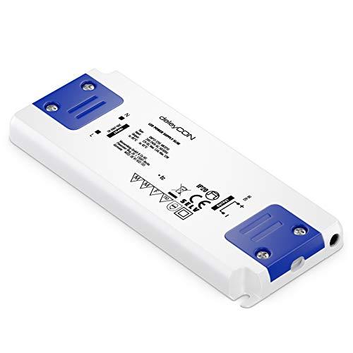 deleyCON 12V Slim LED Trafo Extra Flach Transformator Netzteil 0-12W 200-240V zu 12V DC LED Lampen Lichtstreifen G4 MR11 MR16 Leuchten Überladung Überhitzung