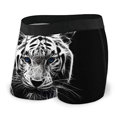 AOOEDM Boxer Briefs African Animal Tiger Abstrakte Männer Boxershorts Komfort Klassische Unterwäsche Coole atmungsaktive Shorts