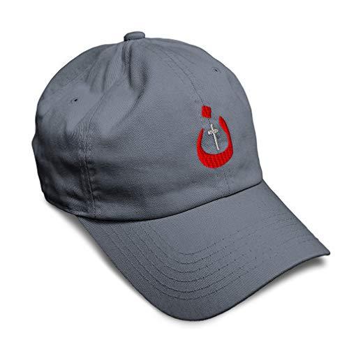 Speedy Pros Soft Baseball Cap Christian Nazarene Jesus God Embroidery Twill Cotton Dad Hats for Men & Women Buckle Closure Dark Grey Design Only