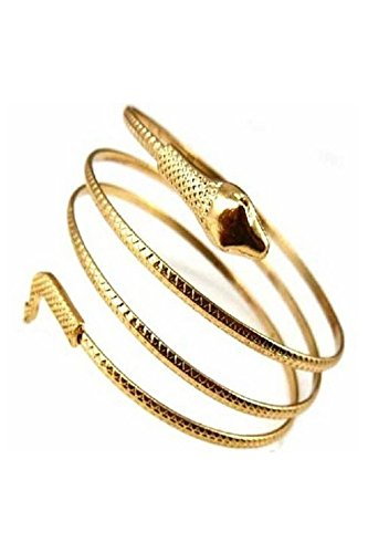 Kuinayouyi Fashion Coiled Snake Spiral Upper Arm Cuff Armband Bangle Bracelet Silver