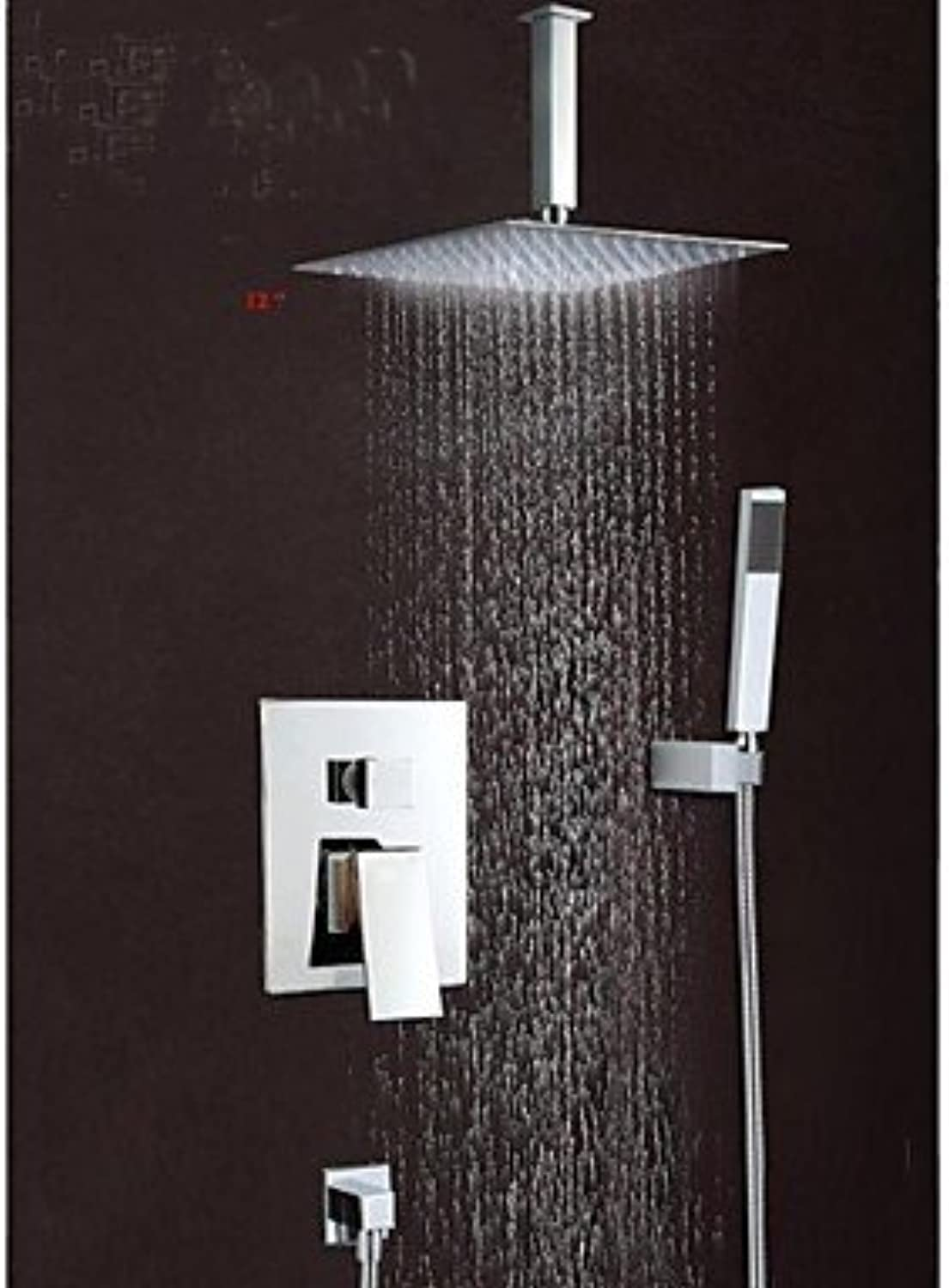 DF Wall Mounted Rain Shower Faucet Set 12 Square Shower Head Bathroom Mixer Taps