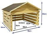 Garaje de madera al aire libre para cortadoras de césped autopropulsadas Cortacésped robótico Protección contra la intemperie