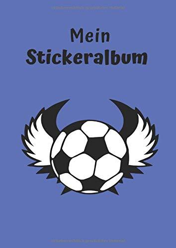 Mein Stickeralbum: Motiv Fußball | Blanko | Permanent | DIN A4 | 30 Seiten | Geschenkidee