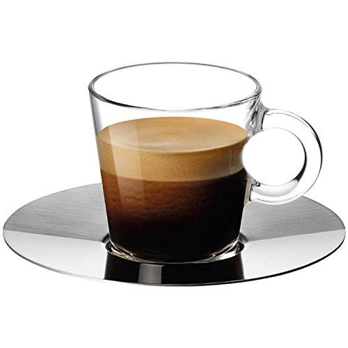 Nespresso-View-Kollektion: 2-er SetEspresso-Glas-Tassen und Untertassen (80ml)