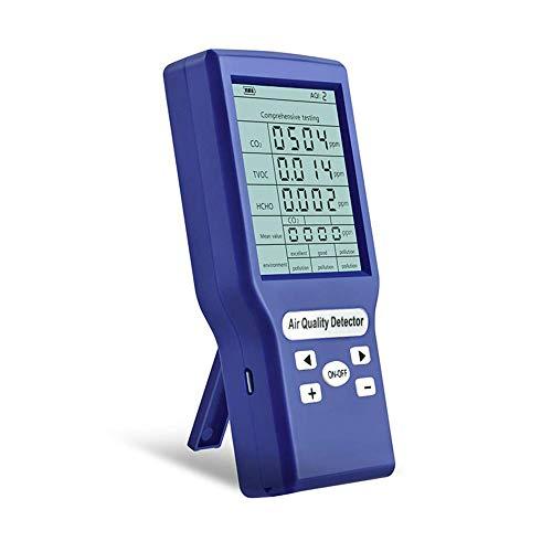 TTLIFE Monitor de Calidad del Aire, Detector de Aire portátil de Mano para Interiores / Exteriores para PM2.5 PM10 CO2 HCHO Sensor de Calidad del Aire de formaldehído