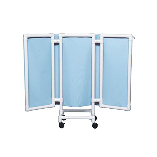 Wheeled Privacy Screen 53' High Light Blue