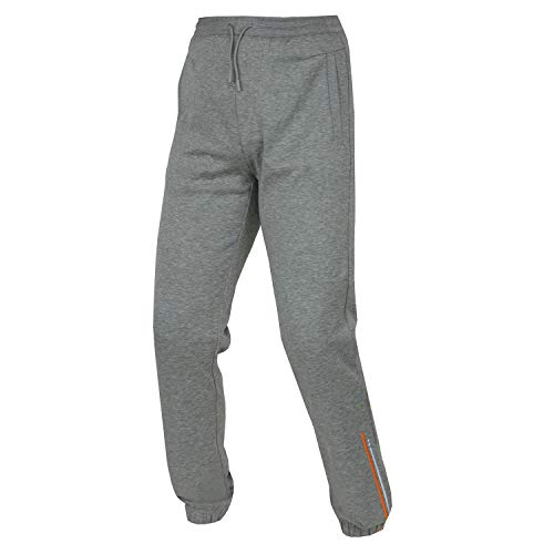 Hugo Boss Hombres Gris Chándal Jogging Gimnasio Fondos Pantalones Pantalones HADIKO 50387167
