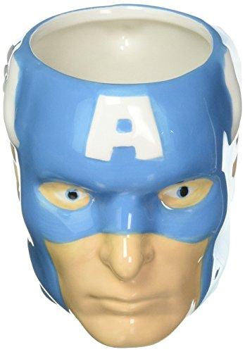 Zak Designs MRTI-8510 Marvel Comics Captain America céramique sculptée Mug, Multicolore