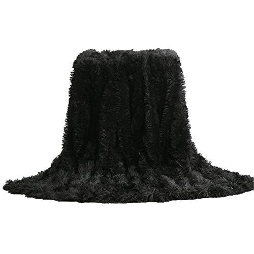 DorisAA Mantas para adultos con peso de 51 x 63 pies (tamaño: L; Color: Negro)