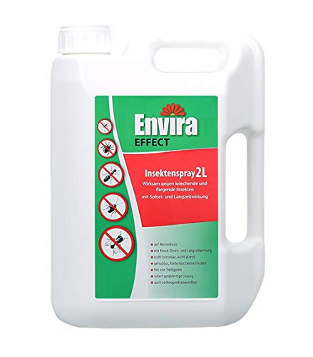Envira Effect Universal-Insektizid - Insektenspray Mit Langzeitwirkung - Anti-Insekten-Mittel Auf Wasserbasis - 2 Liter