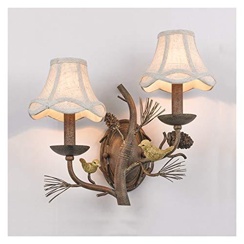 Lámpara de Pared Fondo de pájaros rural Lámpara de pared Restaurante creativo Lámpara de espejo Retro Muro Sconence Iluminación interior Lámparas para el dormitorio Sala de la sala Pasillo Iluminación