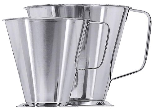Jarra medidora de acero inoxidable de 2,2 litros para cocina
