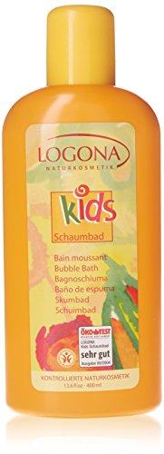 LOGONA Naturkosmetik Schaumbad, Purer Badespaß mit natürlicher Pflege für junge Haut, Reinigt die Haut ganz sanft ohne sie auszutrocknen, Vegan, 500ml