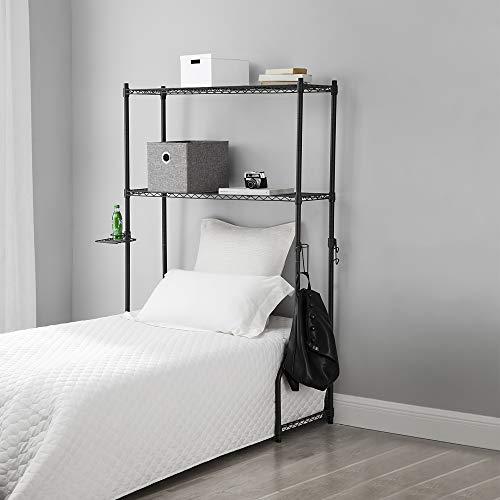 DormCo's Over The Bed Shelf Supreme - Suprima Adjustable Shelving - Gunmetal Gray